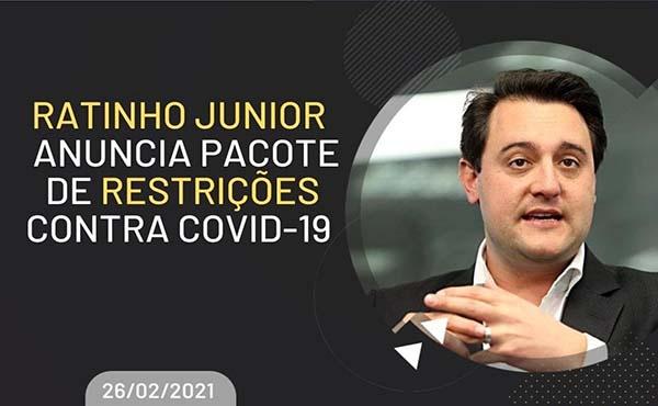 Decreto fecha comércio não essencial, suspende aulas e cancela cirurgias no Paraná