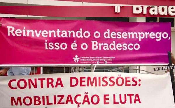 Contra demissões no Bradesco, moções de repúdio se espalham por Osasco e região
