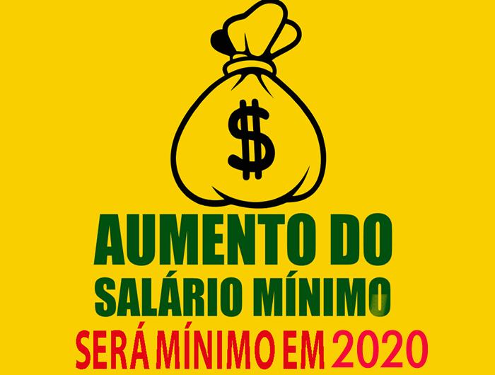 Resultado de imagem para salário mínimo seja reajustado para R$ 1.040 em 2020,