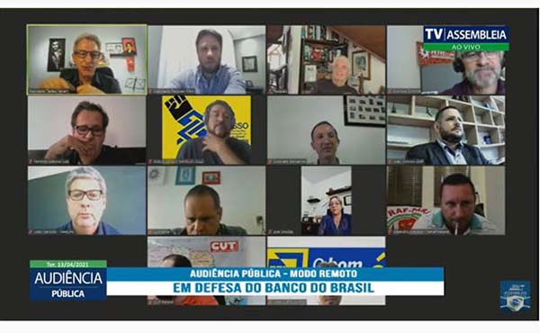 Federação dos Bancários defende Banco do Brasil em Audiência Pública da Alep