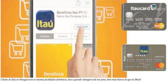 Agiotagem legalizado, cliente Itaú no Brasil paga em um mês o que o do Paraguai paga no ano