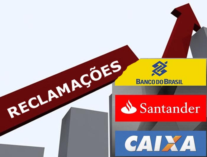 Três instituições lideram ranking de reclamações contra bancos