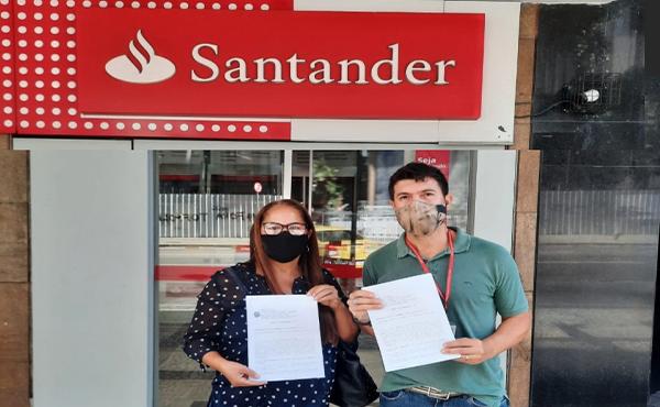 Mais uma reintegração no Santander
