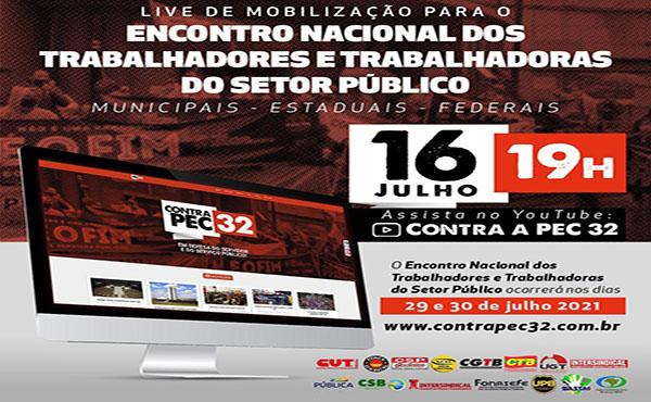 Live de Mobilização - Encontro Nacional dos Trabalhadores(as) do Setor Público