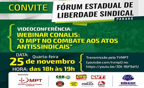 Fórum Estadual da Liberdade Sindical Paraná - Hoje Vídeo Conferência