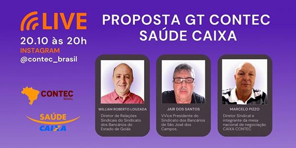 Contec promove live pelo Instagram sobre o SAÚDE CAIXA