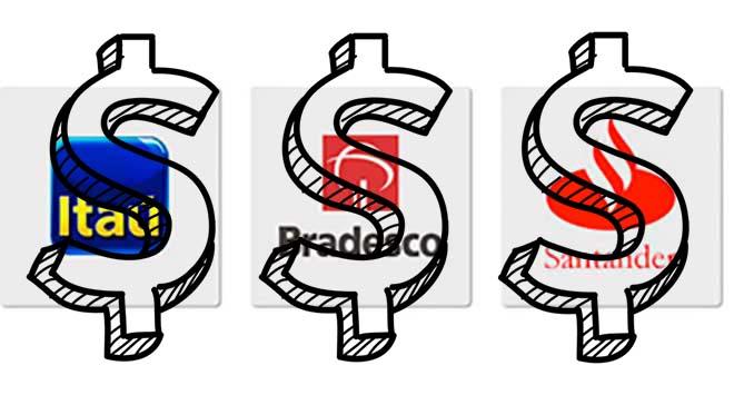 Santander, Itaú e Bradesco lucram no 1º trimestre mais do que em 2019 e 2020